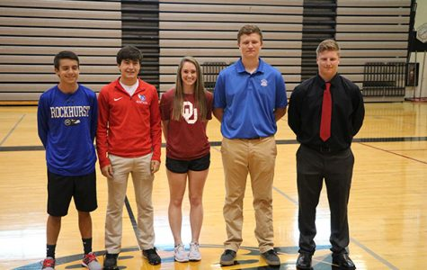 Athletes Sign to Continue Sports in College