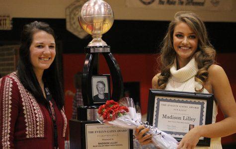 Senior Madison Lilley wins Evelyn Gates Award
