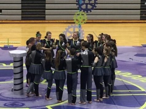Winter Guard Hosts MCCGA Winter Guard Competition