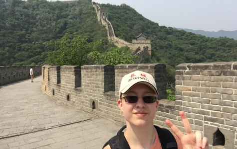 Jackson explores the magnificent scenery atop the Great Wall of China with EF tours. It was something that will