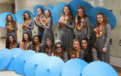 Winter Guard performs in MCCGA Championships