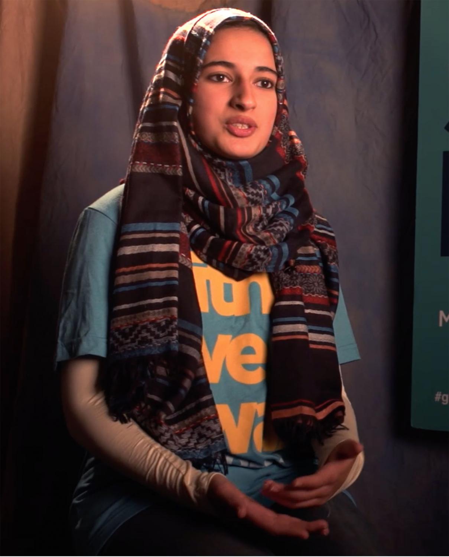 Junior Syeda Mahnoor explains how she designed a button for SevenDays