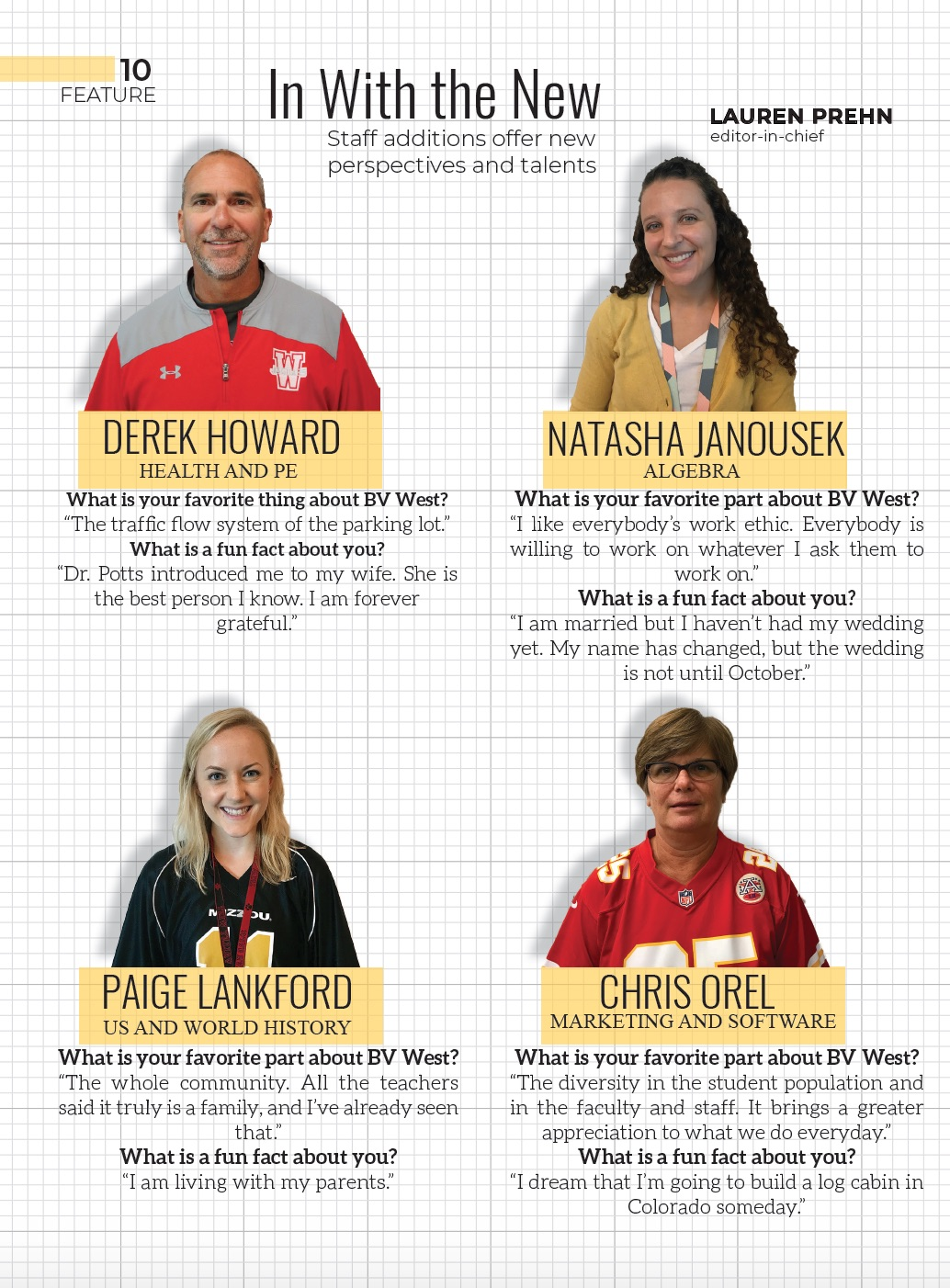 Profiles of teachers new to BV West