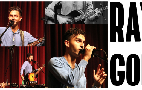 The many faces of performer Ray Goren at BV West High School, Oct. 8.