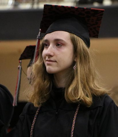 A smile and a tear from foreign exchange student Marta Michalik captures the bittersweet feeling many seniors had during Class Day on Friday, May 10.