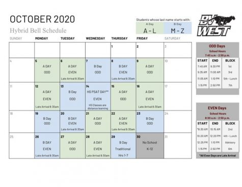 New Hybrid Bell Schedule for October 2020!