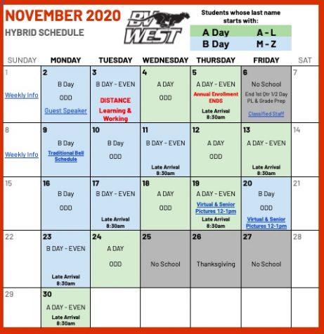November 2020 School Calendar