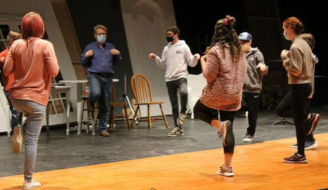 Theater director, Reed Uthe, leads students through improvisation activities during class on Nov. 20.