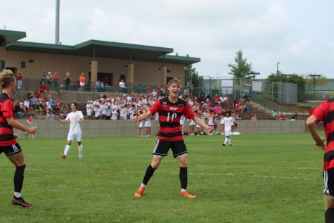Cooper Forcellini gets excited after his goal against SMNW
